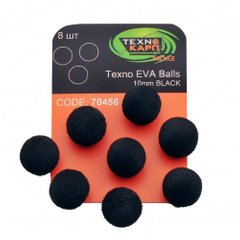 TEXNO EVA BALLS 10MM BLACK УП/8ШТ