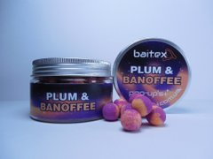 Baitex Бойлы Pop-up Plum & Banoffee-10мм (40шт)